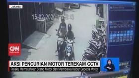 VIDEO: Aksi Pencurian Motor Terekam CCTV