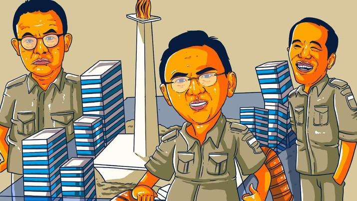 Infografis/dari jokowi hingga Anies gubernur yang  paling berhasil mengatasi masalah jakarta/Aristya Rahadian Krisabella
