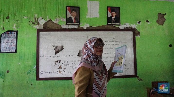 Masih Ada Sekolah Rusak. (CNBC Indonesia/Tri Susilo)