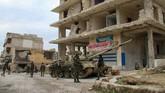 Presiden Suriah, Bashar al-Assad, menyatakan situasi tersebut membuat mereka semakin dekat dengan kemenangan setelah perang sipil berkecamuk di negara itu sejak 15 Maret 2011.(Photo by - / AFP)