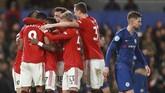 Gol pertama Manchester United dilseakkan Anthony Martial pada menit ke-45. (AP Photo/Ian Walton)