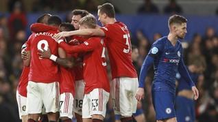 FOTO: VAR Bantu MU Kalahkan Chelsea