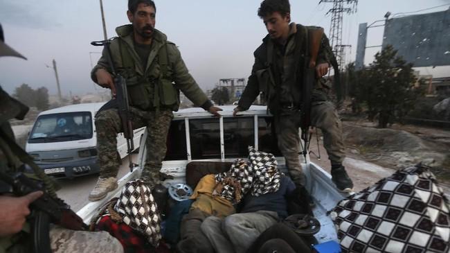 Pasukan Suriah berhasil merebut 30 desa dan kota di wilayah barat Aleppo pada Minggu pekan lalu.(Photo by LOUAI BESHARA / AFP)