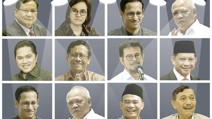Presiden Joko Widodo dalam silaturahmi dengan pegiat media sosial di Istana Bogor (18/2/2020) menegaskan tidak ada rencana reshuffle Kabinet Indonesia Maju.