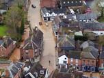Badai Dennis Serang Inggris, Negeri Pangeran William Banjir