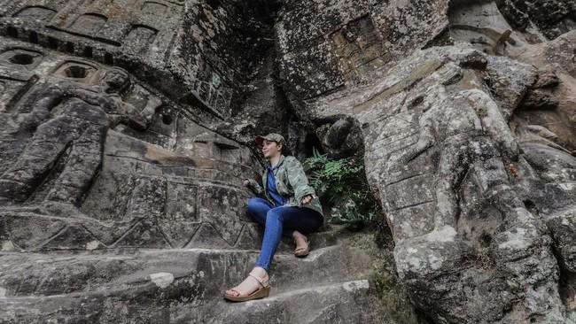 Alberto Gutierrez bahkan mengklaim bahwa patung raksasanya persis seperti yang ia lihat dalam mimpi, 70 tahun yang lalu. (Photo by INTI OCON / AFP)