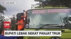 VIDEO: Truk Kerap Bikin Jalan Rusak, Bupati Lebak Ngamuk