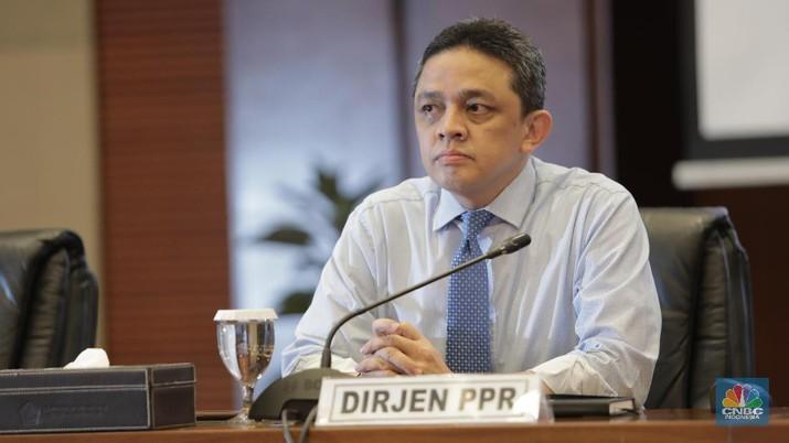 Direktur Jenderal Pengelolaan Pembiayaan dan Risiko Kementerian Keuangan Luky Alfirman  (CNBC Indonesia/Tri Susilo)