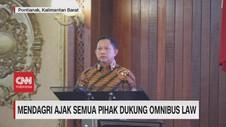 VIDEO: Mendagri Ajak Semua Pihak Dukung Omnibus Law