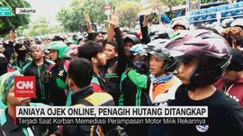 VIDEO: Aniaya Ojek Online, Penagih Hutang Ditangkap