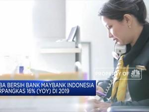 Laba Bersih Bank Maybank Terpangkas 16% pada 2019