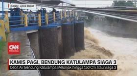VIDEO: Hujan Deras, Bendung Katulampa Siaga 3