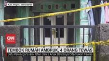 VIDEO: Tembok Rumah Ambruk, 4 Orang Tewas