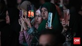 Sebagian besar pengunjung Muslim Fashion Festival 2020 muslimah yang ingin memperbaharui gaya busana muslim. CNNIndonesia/Safir Makki
