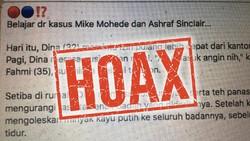 Hoax 'Angin Duduk' Bawa-bawa Ashraf Sinclair dan Mike Mohede, Ini Faktanya