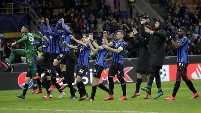 Atalanta kini punya peluang besar untuk melanjutkan perjalanan ke babak perempat final Liga Champions. (AP Photo/Luca Bruno)