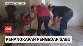 VIDEO: Penggerebekan Pengedar Sabu di Lamongan