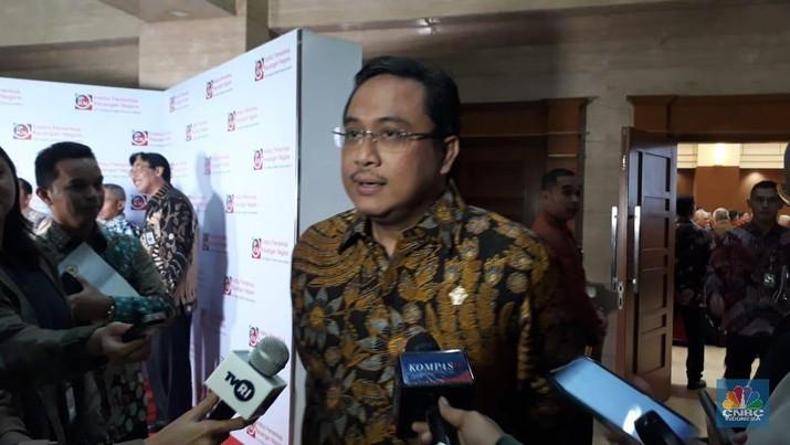 Ketua Badan Pemeriksa Keuangan, Agung Firman Sampurna (CNBC Indonesia/Ferry Sandi)