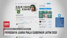 VIDEO: Persebaya Juara Piala Gubernur Jatim 2020