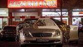 Dua penembakan terjadi di bar shisha di kota Frankfurt, Jerman pada Rabu (19/2) malam.(AP Photo/Michael Probst)