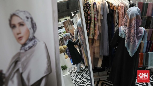 Festival ini diharapkan bisa mengangkat potensi muslim fashion di Tanah Air yang akan memberikan stimulus bagi perekonomian nasional. CNNIndonesia/Safir Makki