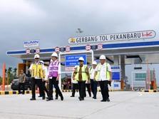 Segera Dibuka, Jokowi Tinjau Proyek Tol Pekanbaru-Dumai