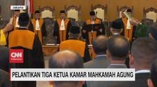 VIDEO: MA Lantik 3 Ketua Kamar Mahkamah Agung