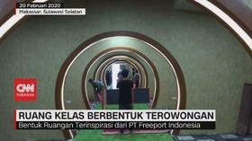VIDEO: Ruang Kelas Berbentuk Terowongan