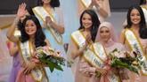 Selain mencari pemenang utama, ajang Miss Indonesia 2020 juga memberikan penghargaan Miss Persahabatan untuk finalis asal Nusa Tenggara Barat Audrey Formoza dan Miss Favorit untuk finalis asal Aceh Arifia Maulidia. (ANTARA FOTO/M Risyal Hidayat/aww)