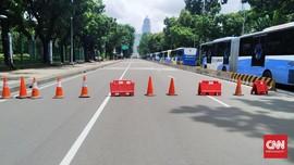 Aksi 212, Polisi Tutup Jalan Medan Merdeka Barat