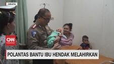 VIDEO: Polantas Bantu Ibu Hendak Melahirkan di Tol Jorr
