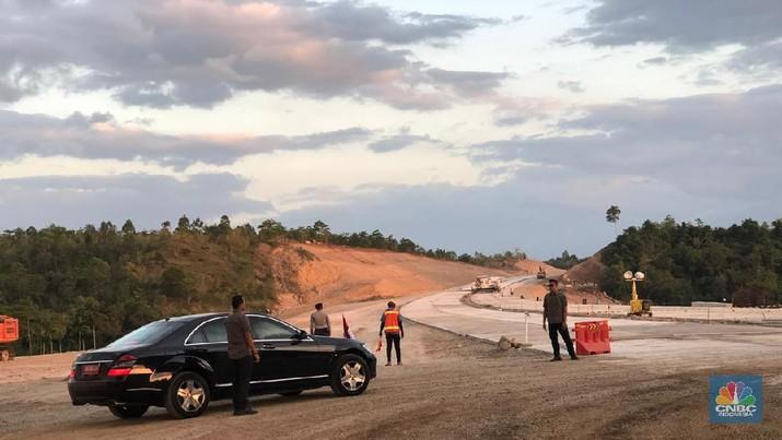 Pembangunan jalan tol Sigli-Banda Aceh (Sibanceh) di Aceh Besar (CNBC Indonesia/Chandra Gian Asmara)