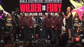VIDEO: Detik-detik Wilder dan Fury Ribut Saat Timbang Badan
