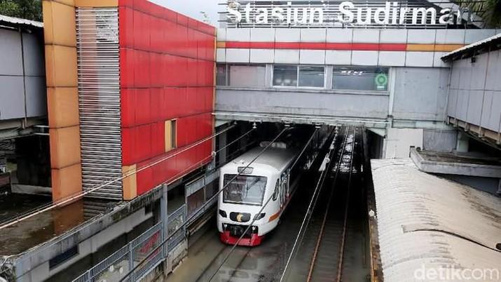 Stasiun Sudirman Banjir (Rengga Sancaya - detikNews)