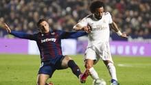 Hasil Liga Spanyol: Madrid Kalah dari Levante.