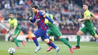 FOTO: Messi Quattrick, Ronaldo Cetak Gol di Laga ke-1000