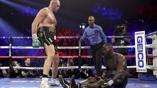 Tanpa Lempar Handuk, Wasit Siap Hentikan Tyson Fury vs Wilder