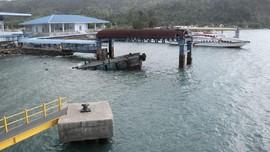 Dermaga Kapal Cepat di Sabang Roboh Dihantam Ombak