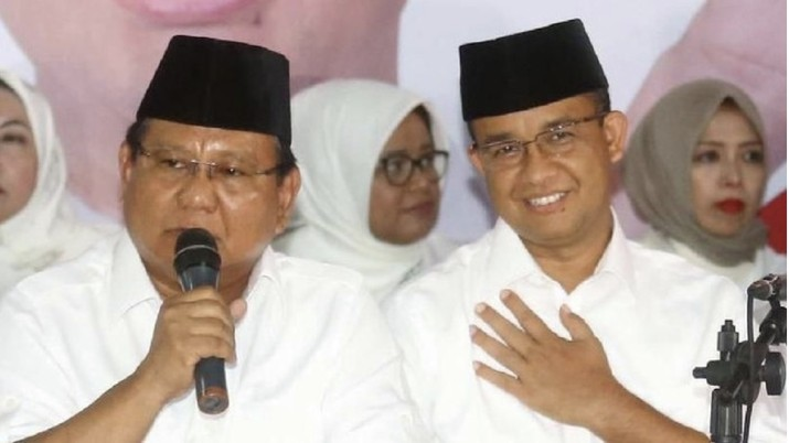 Prabowo Subianto dan Anies Baswedan (Dok Detikcom)