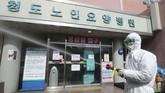 Provinsi Gyeongsang Utara di kota Daegu tercatat memiliki infeksi corona tertinggi dalam sehari sebanyak 33 kasus baru. (Lim Hwa-young/Yonhap via AP)