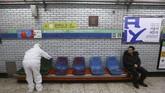Sekitar 231 kasus corona dilaporkan menginfeksi kelompok agama Shincheonji, Daegu, Korea Selatan. Sementara total wabah corona di Daegu mencapai 433 kasus. (AP Photo/Ahn Young-joon)