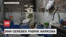 VIDEO: BNN Gerebek Pabrik Narkoba di Bandung