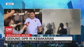 VIDEO: Penuturan Saksi Mata Kebakaran Gedung DPR RI