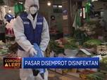 Antisipasi Corona, Pasar di Korea Disemprot Disinfektan