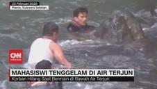 VIDEO: Mahasiswi Tenggelam di Air Terjun Tompobulu Maros