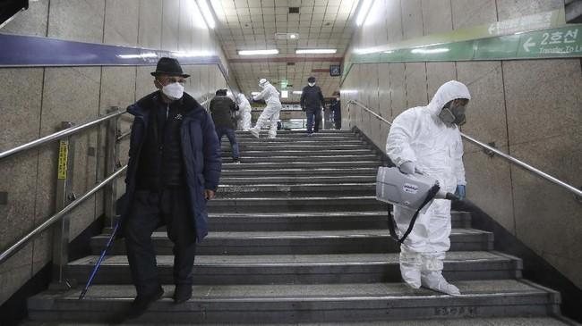 Sekitar tujuh pasien dinyatakan meninggal dunia hingga Selasa (25/2). (AP Photo/Ahn Young-joon)