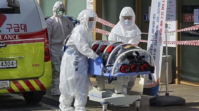 Pemerintah Korea Selatan memasukkan Daegu dan Cheongdo sebagai 'zona perawatan khusus' virus corona. (Kim Jong-un/Yonhap via AP)