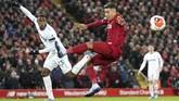Liverpool berhadapan dengan West Ham pada laga Liga Inggris pekan ke-27. (AP Photo/Jon Super)