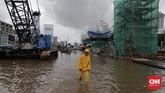 Kawasan Kelapa Gading, Jakarta Utara yang kerap jadi langganan banjir.CNN Indonesia/Adhi Wicaksono