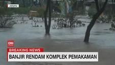VIDEO: Banjir Rendam Pemakaman